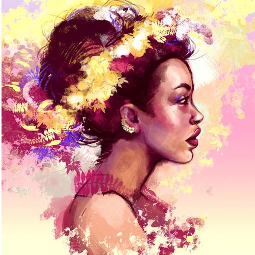 Goddess feminine portrait