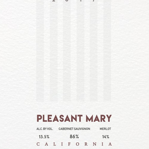 Wine label Pleasant Mary