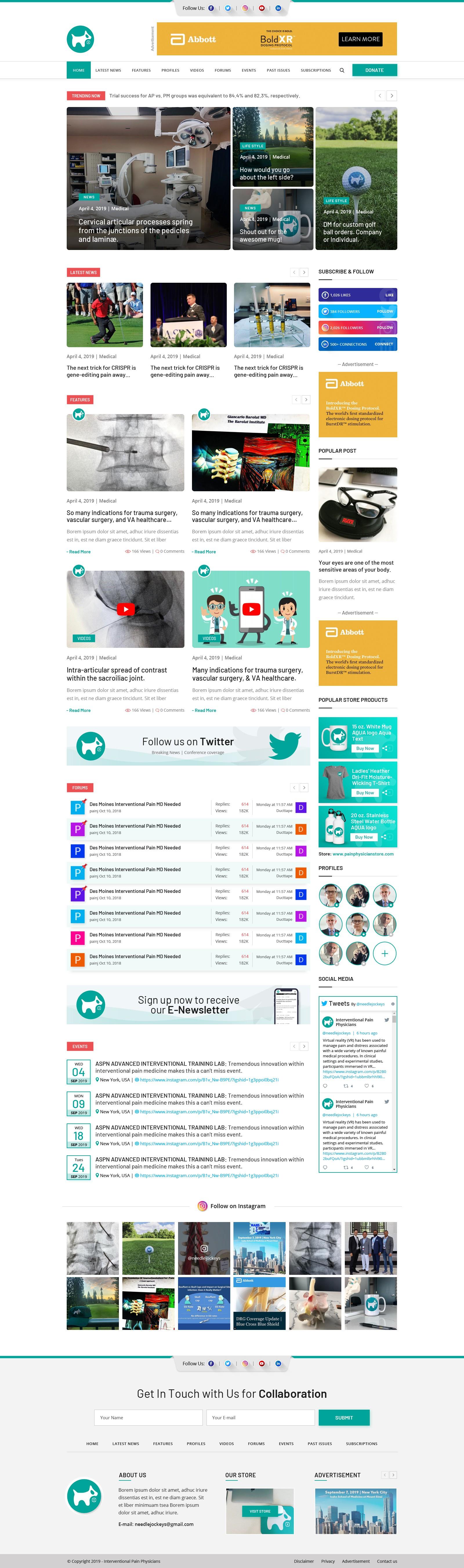 Educational Website (Original Designs)