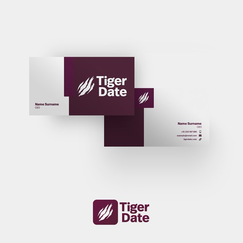 Tiger Date Business Card Concept