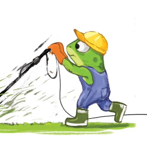 """Illustration for the book """"Freddy the Frugal Frog"""""""