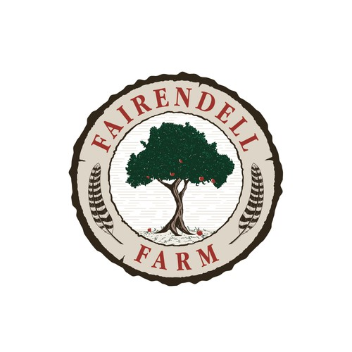 Rustic Farm and Family Home Emblem