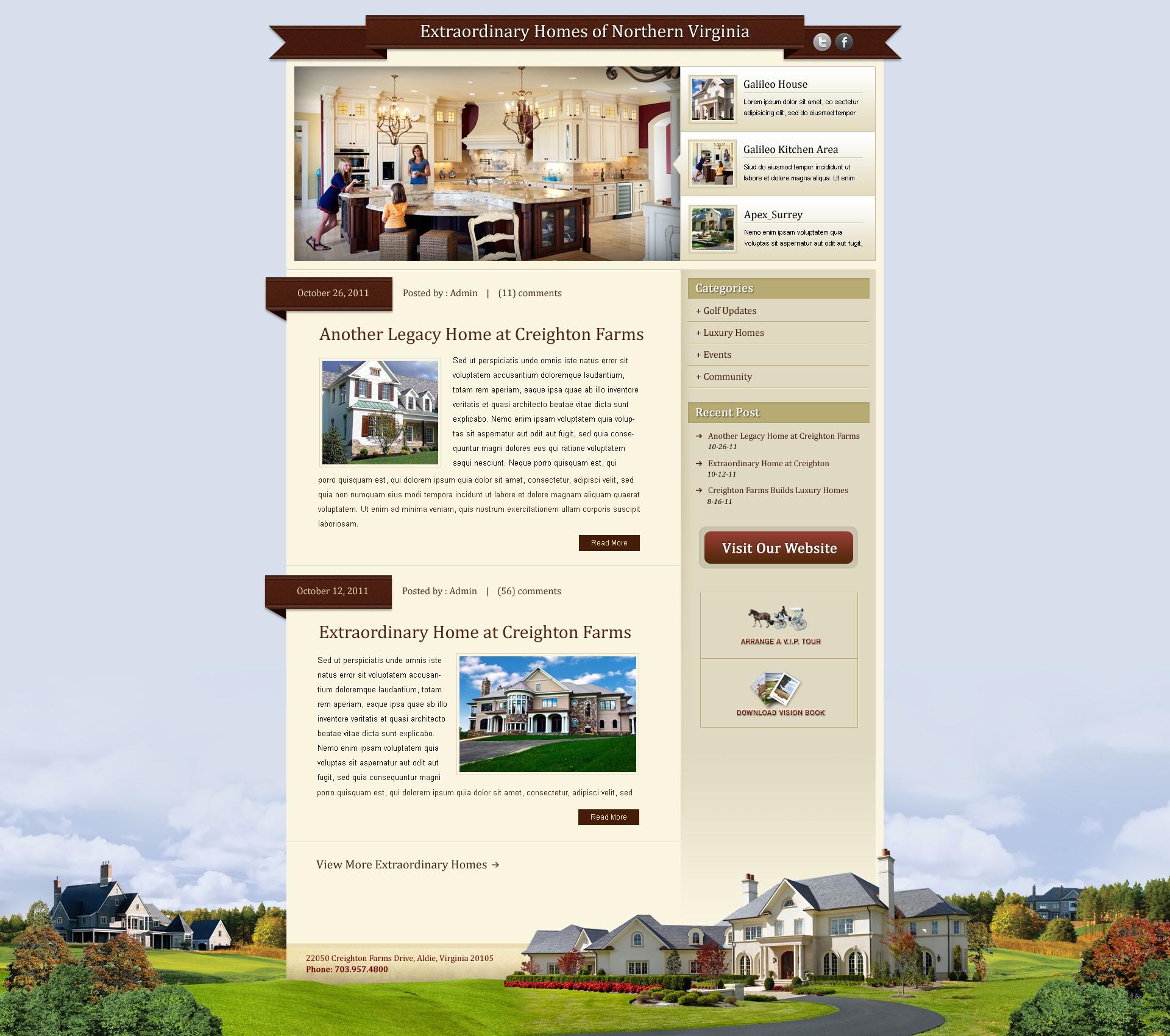 Create the next website design for Creighton Farms