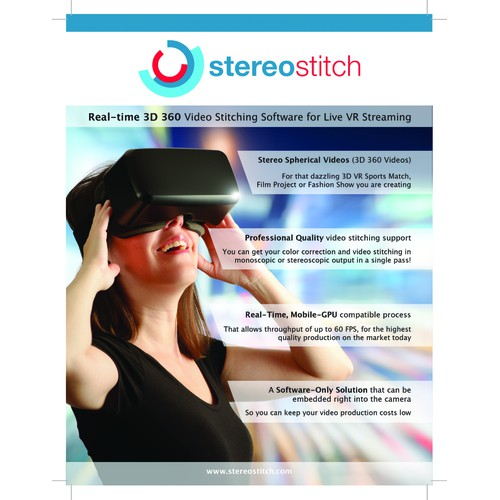 Stereostitch banner and flyer