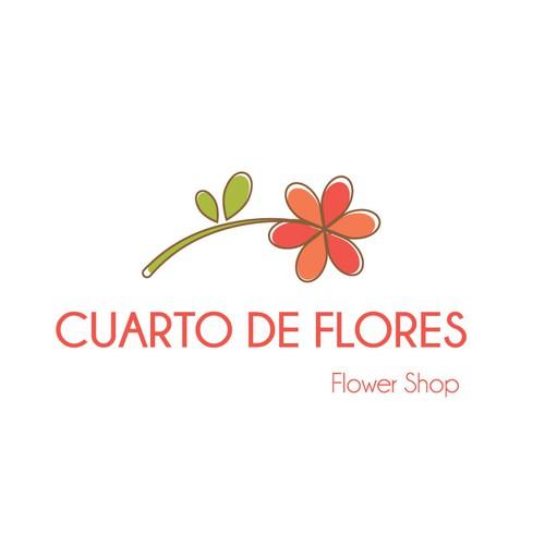 Floral Logo for Cuarto de Flores