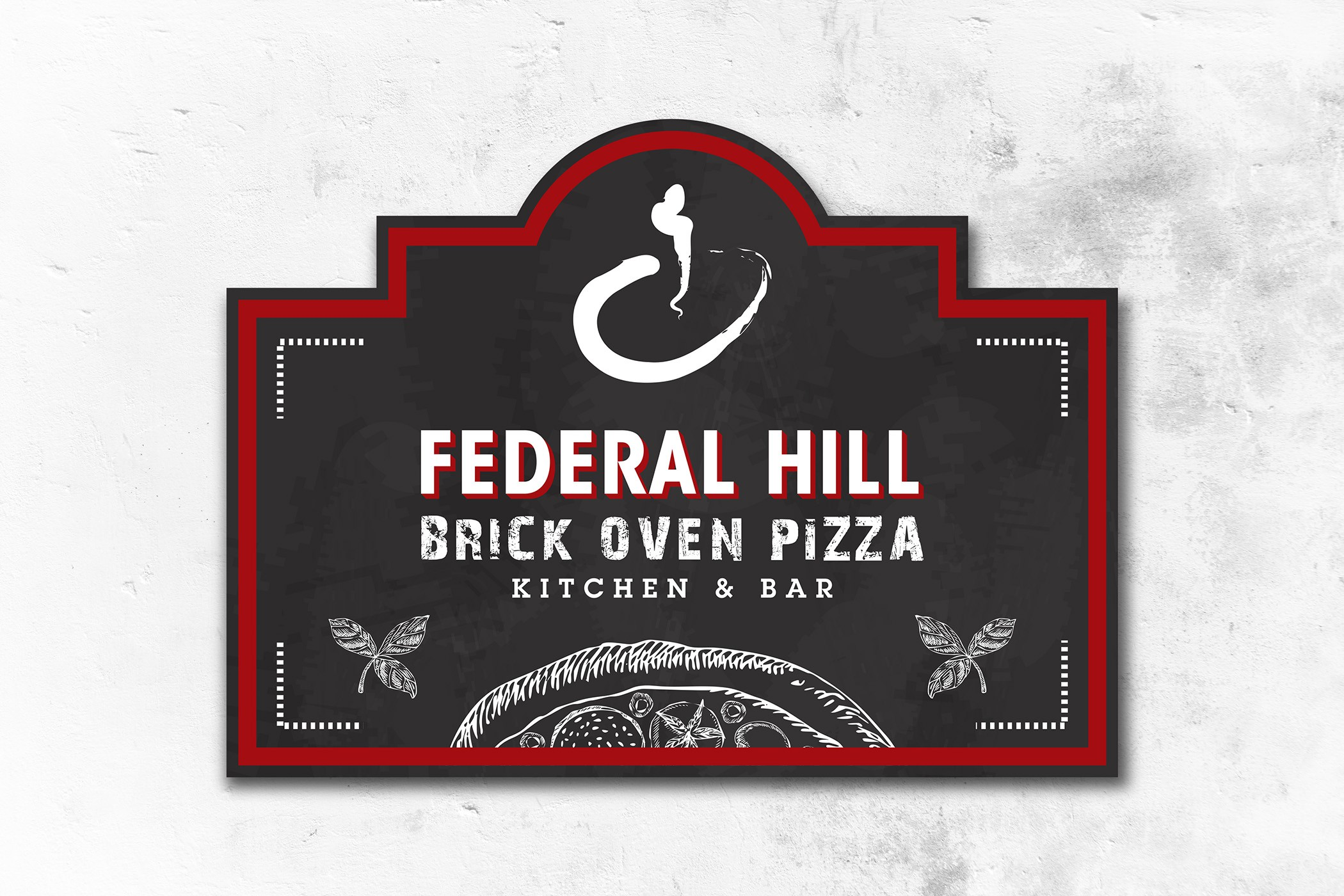 Large Outdoor Sign for Pizza Restaurant