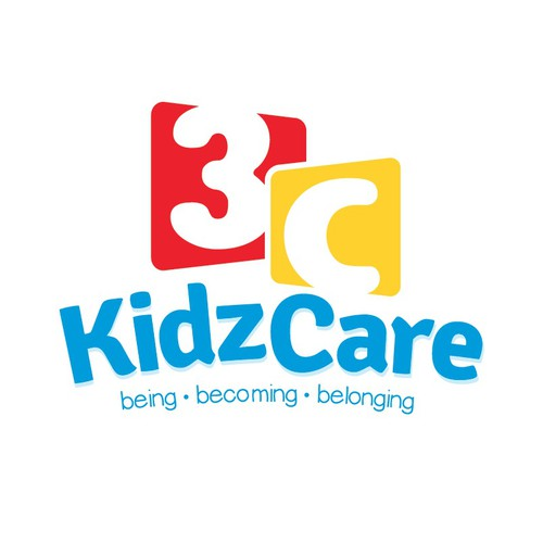 Create a modern yet bright, happy and fun logo for 3C Kidz Care