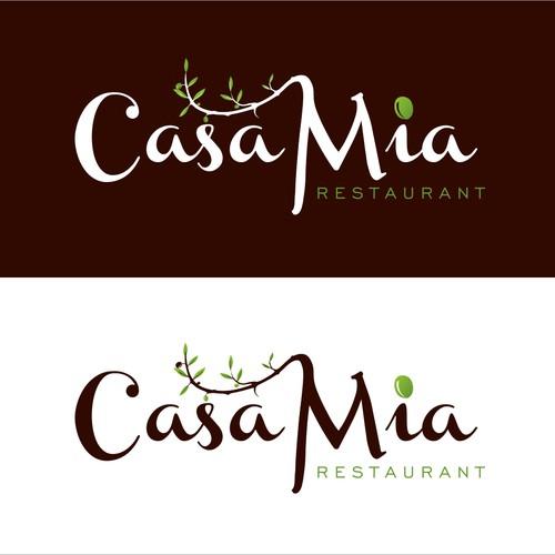 Casa Mia Restaurant needs a new logo and business card