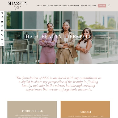 Shassity Styles Website Redesign
