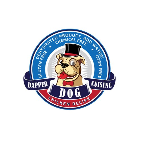 Dapper logo for a luxury dog food brand