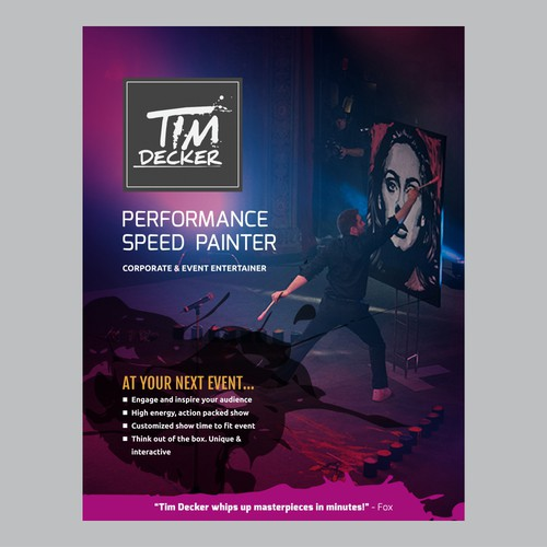 Press Kit Redesigned for Renowned Entertainer