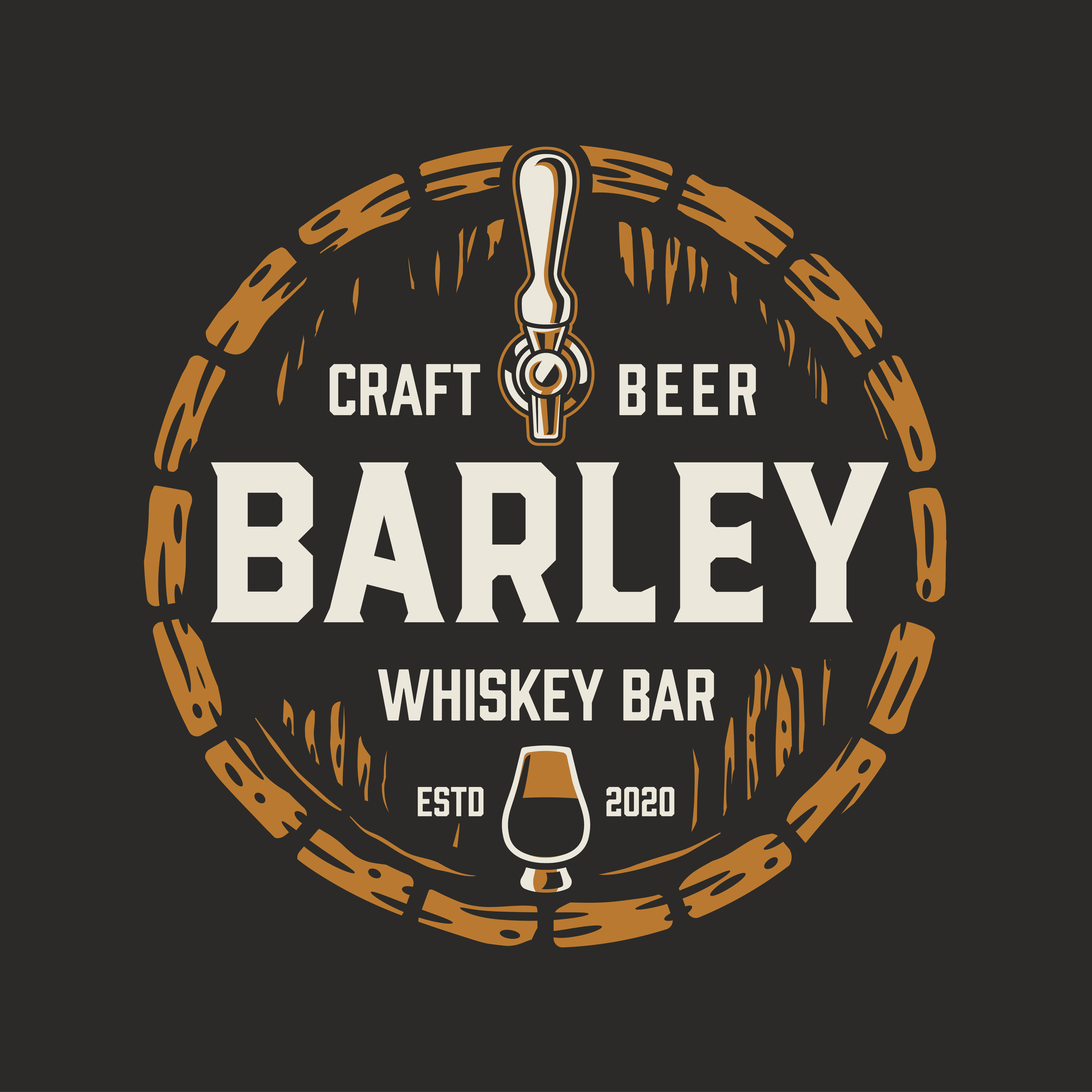 Design a cool and classy Bar logo for a college town