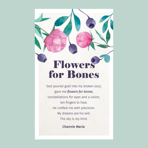 Design for poetry card