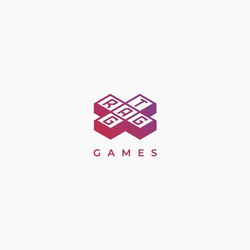 Modern logo for premium mobile game studio