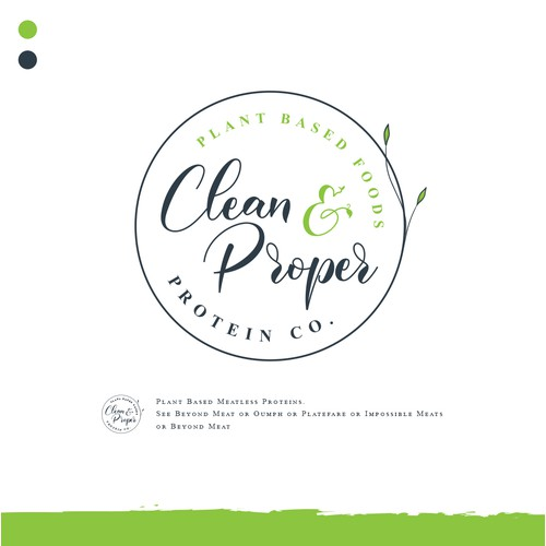 "Food Brand Label for ""Clean & Proper Protein Co."""