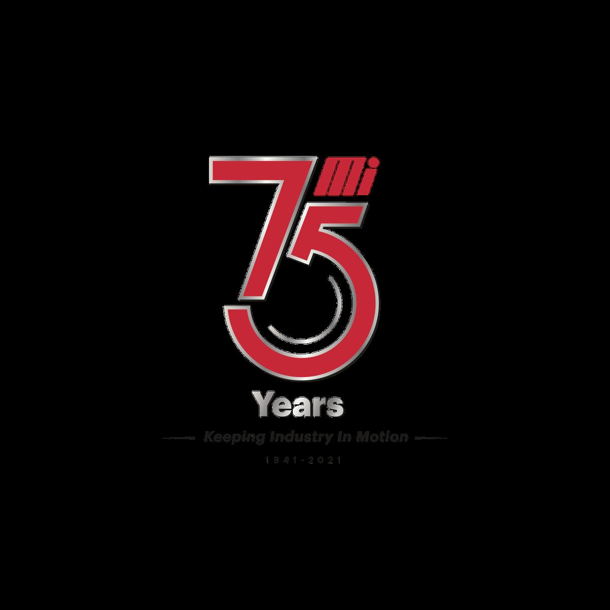 Mi 75 Year Anniversary logo