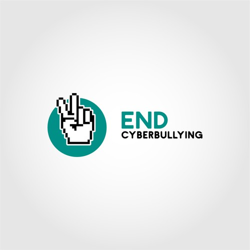 Logo design concept for a non-profit organization tackling cyberbullying