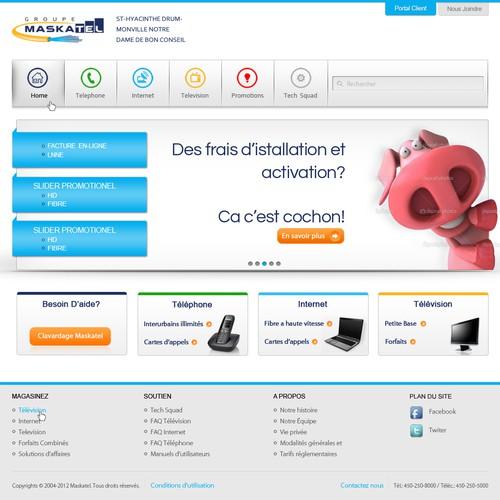 Create the next website design for Groupe Maskatel
