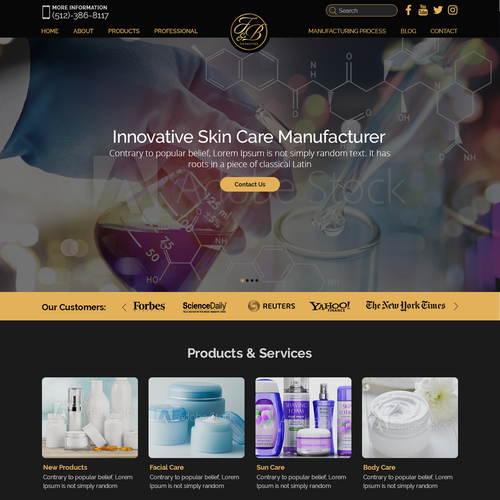 Web Page Design for F&B Cosmetics