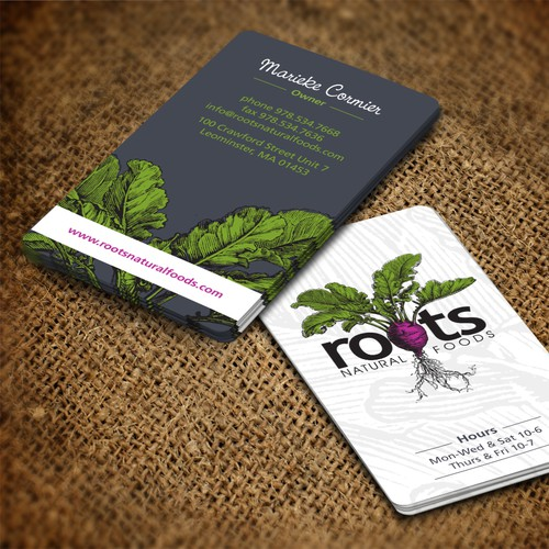 Roots Natural Foods needs a new unique amazing business card