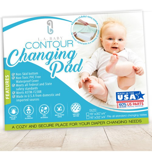Changing Pad packaging Label design