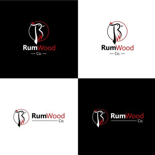 RumWood.co Logo Design