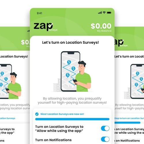 Onboarding Screens - Zap App