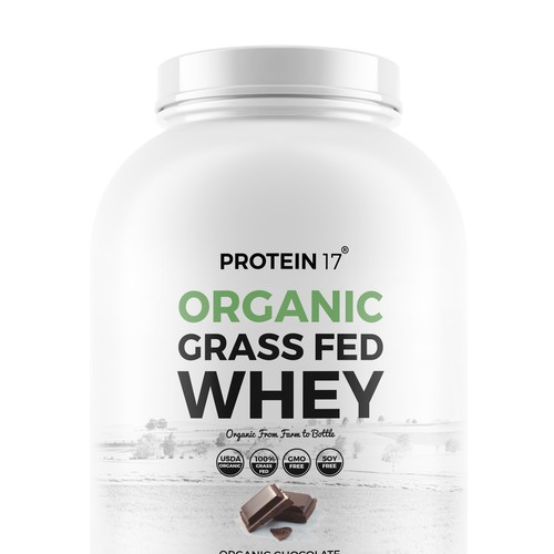Label for organic whey protein