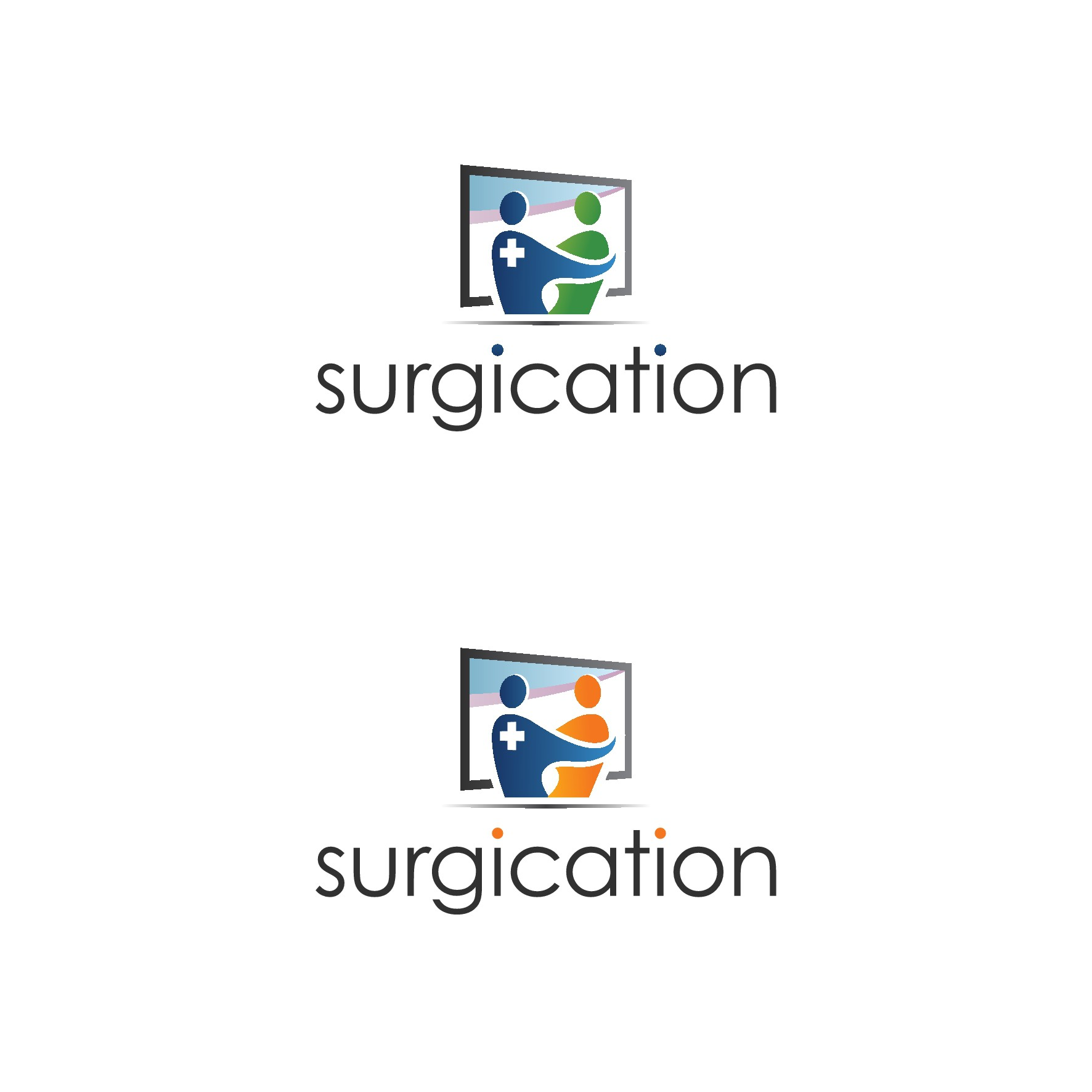 Create a logo for an educational website for surgery patients