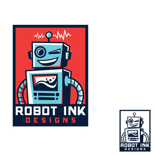 Bold logo for Robot Ink
