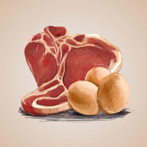 Illustrations for Paleo Diet