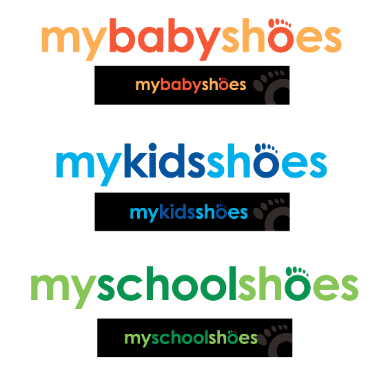 Create the next logo for MyBabyShoes - MyKidsShoes - MySchoolshoes Logo