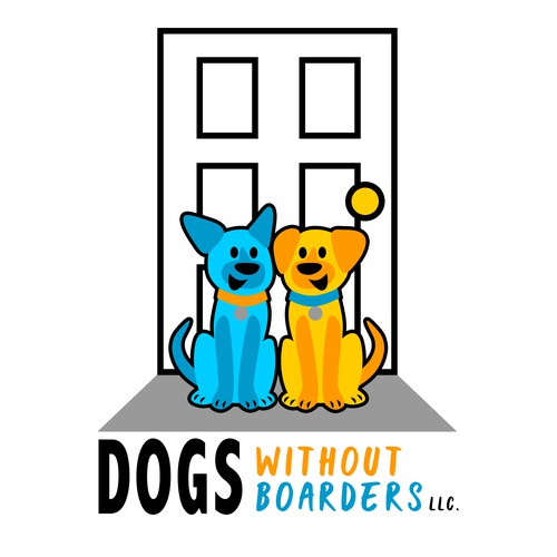Concept Logo for Dogs Without Boarders LLC.