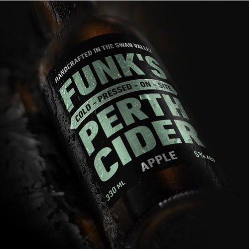 Apple cider label contest wining design