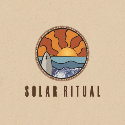 Tropical logo for SOLAR RITUAL