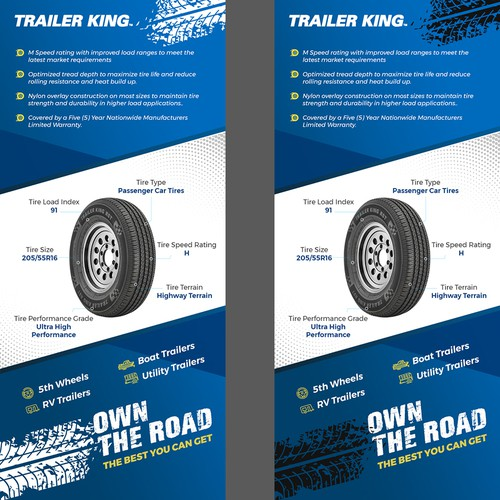 Flyer Design for Tyre Product