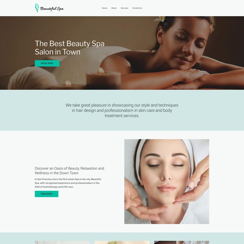 Spa ecommerce website