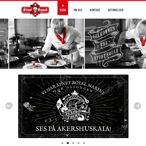 Catering site design for alternative catering company