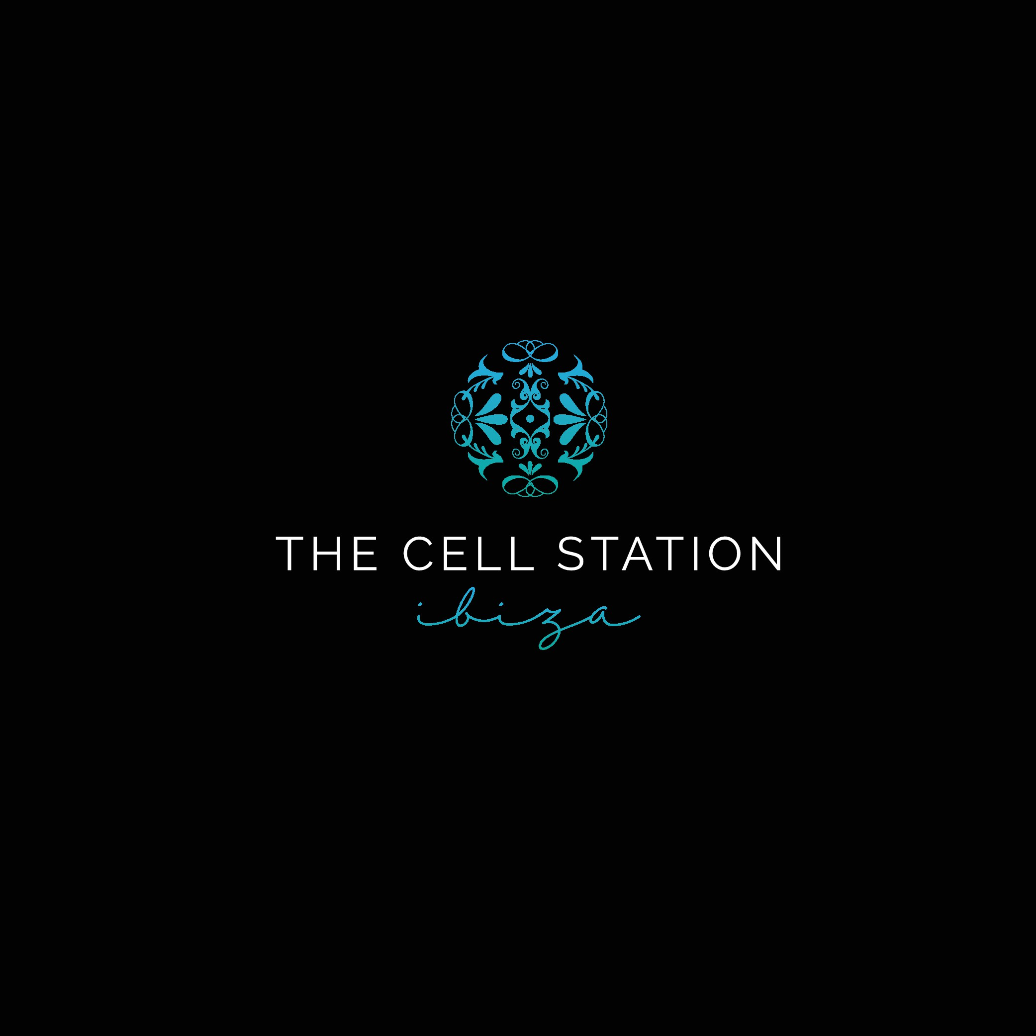 """the holistic treatment system  """" The Cell Station """" Ibiza needs a feel good logo"""