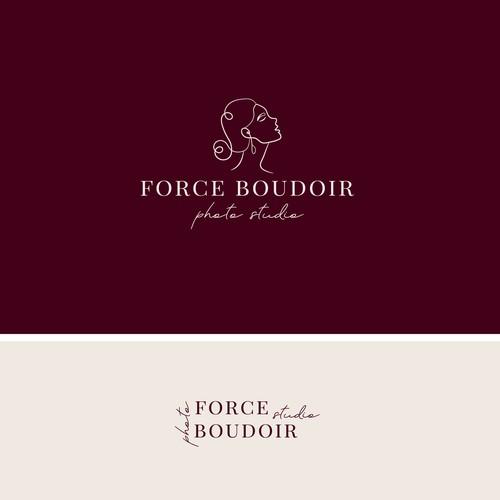 logo concept for boudoir photography studio