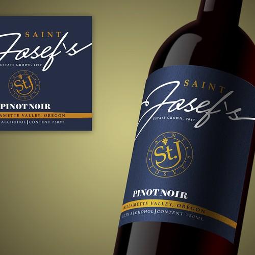 Diseño de etiqueta de botella de vino