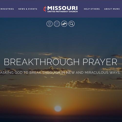 Missouri United Methodist Church Website on Squarespace