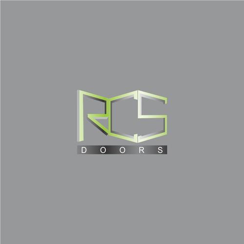 Geometric logo for rcs doors