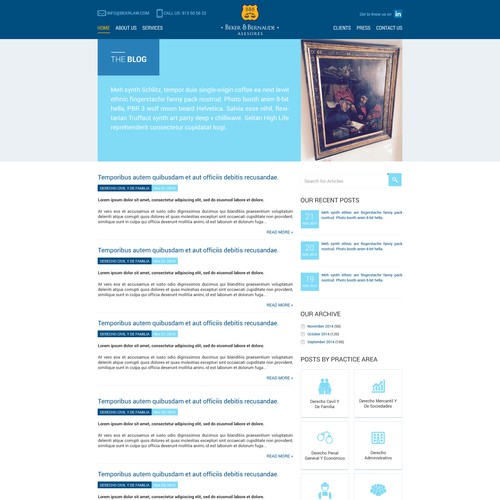 Website for a small-medium law firm in Spain!