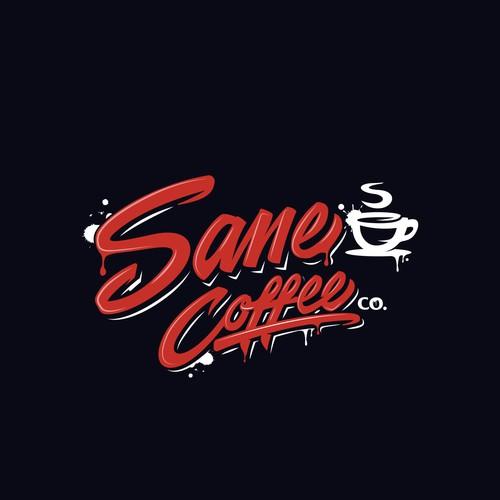 Graffiti logo for Sane Coffee Co.