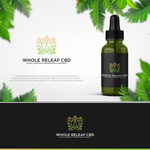 Whole Releaf CBD Logo concept