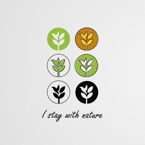 I stay with nature : Logo Design