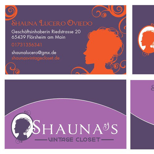 New logo and business card wanted for Shauna's Vintage Closet