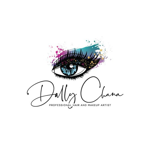 Professional hair and makeup artist logo