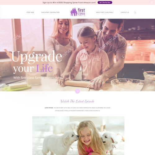 First Class Family content driven website